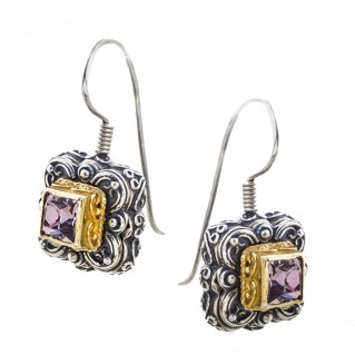 S195 ~ Sterling Silver and Swarovski - Medieval Byzantine Earrings