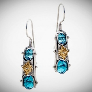 S197 ~ Sterling Silver and Swarovski - Medieval Byzantine Earrings