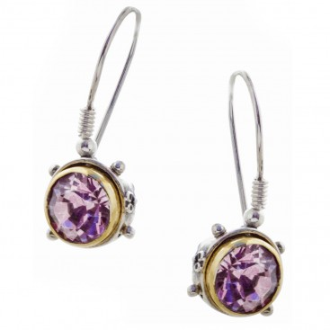 S203 ~ Sterling Silver and Swarovski - Medieval Byzantine Earrings