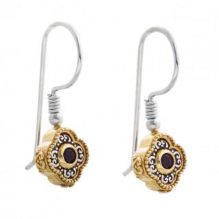 S215 ~ Sterling Silver and Swarovski - Medieval Byzantine Earrings
