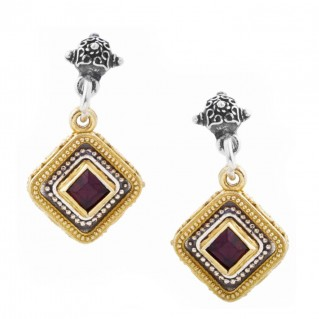S216 ~ Sterling Silver and Swarovski - Medieval Byzantine Earrings