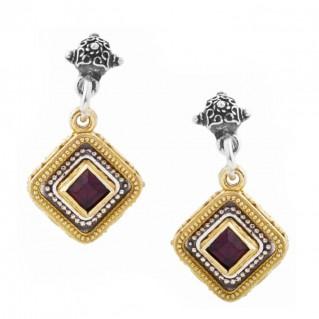 S216 ~ Sterling Silver and Swarovski - Medieval Byzantine Earrings