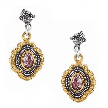 S217 ~ Sterling Silver and Swarovski - Medieval Byzantine Earrings