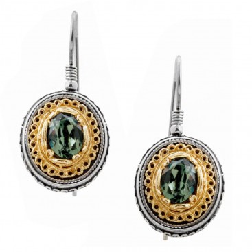 S220 ~ Sterling Silver with Swarovski - Medieval Byzantine Earrings