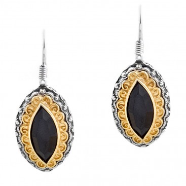 S221 ~ Sterling Silver and Swarovski - Medieval Byzantine Earrings