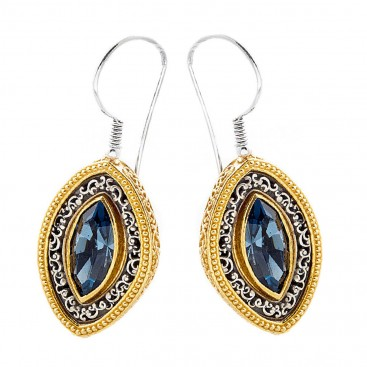 S222 ~ Sterling Silver and Swarovski - Medieval Byzantine Earrings