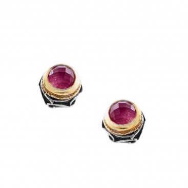 S225 ~ Sterling Silver with Gemstones Small Stud Earrings