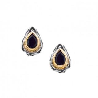 S231 ~ Sterling Silver with Swarovski - Medieval Byzantine Stud Earrings