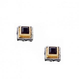 S232 ~ Sterling Silver with Swarovski - Medieval Byzantine Stud Earrings