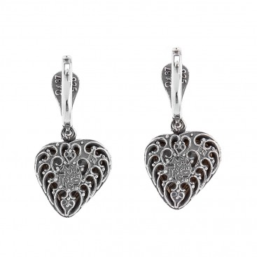 S241 ~ Sterling Silver and Swarovski Heart Earrings