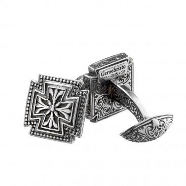 Gerochristo 7012N ~ Sterling Silver Medieval-Maltese Cross Cufflinks
