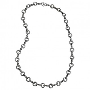 Gerochristo 4051N ~ Sterling Silver Medieval-Byzantine Chain Necklace