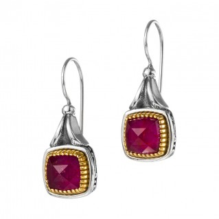 Gerochristo P1688N ~ Sterling Silver Medieval Doublet Drop Earrings