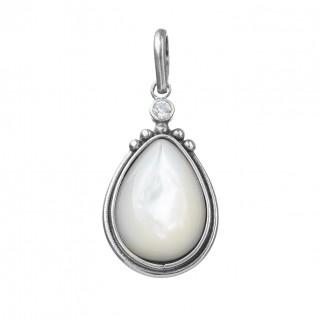 Gerochristo 1369N ~ Sterling Silver & Stones Byzantine Charm Pendant