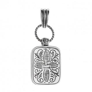 Savati 241 - Sterling Silver and Larimar Byzantine Large Pendant