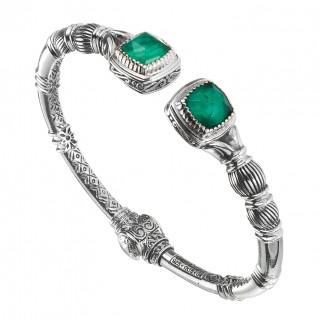 Gerochristo 6361N ~ Sterling Silver Medieval Doublet Cuff Bracelet