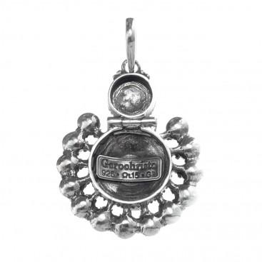 Gerochristo 1332N ~ Sterling Silver & Stones Medieval Byzantine Ornate Pendant