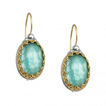 Gerochristo 1639N ~ Solid Gold & Silver Medieval Doublet Drop Earrings