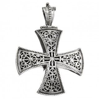 Gerochristo 5389N ~ Sterling Silver Large Maltese Cross Pendant
