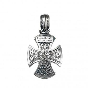 Gerochristo 5397N ~ Sterling Silver Medieval-Maltese Cross Pendant