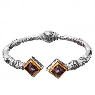 Gerochristo P6371N ~ Sterling Silver & Stones Medieval Cuff Bracelet