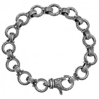 Gerochristo 6132N ~ Sterling Silver Medieval-Byzantine Link Bracelet