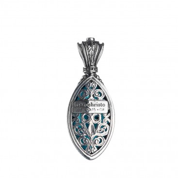 Gerochristo 1617N ~ Sterling Silver Medieval-Byzantine Doublet Pendant