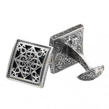 Gerochristo 7066N ~ Sterling Silver Medieval-Byzantine Cufflinks