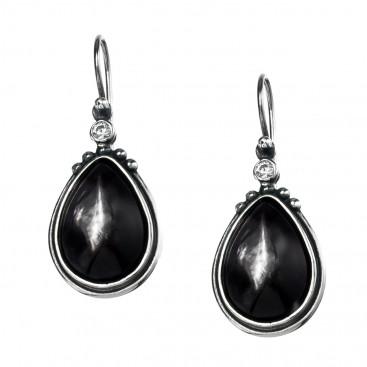 Gerochristo 1366N ~ Sterling Silver & Stones Medieval-Byzantine Drop Earrings