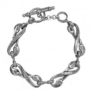 Gerochristo 6169N ~ Sterling Silver Medieval Dolphin Link Bracelet