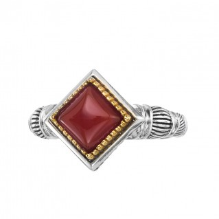 Gerochristo P20077N ~ Sterling Silver Medieval Solitaire Ring