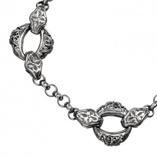 Gerochristo 6167N ~ Sterling Silver Medieval Link Chain Bracelet