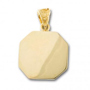 14K Solid Gold Conqueror's Cross Constantinato Octagon Pendant