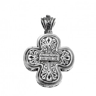 Gerochristo 5466N ~ Sterling Silver Medieval-Byzantine Cross Pendant