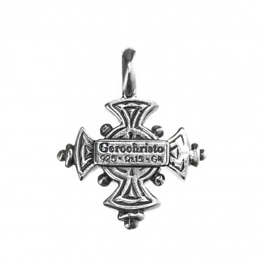 Gerochristo 5076N ~ Sterling Silver Byzantine-Medieval Cross Pendant