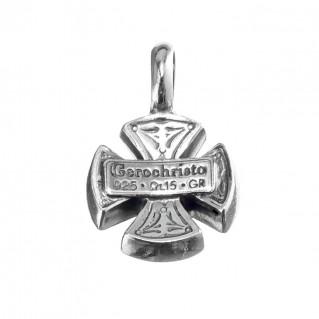 Gerochristo 5403N ~ Sterling Silver Maltese Cross Pendant