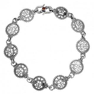 Gerochristo 6212N ~ Sterling Silver Post-Byzantine Filigree Link Bracelet