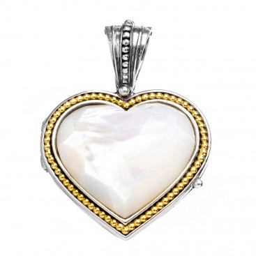Gerochristo P3146N ~ Sterling Silver Heart Locket Pendant