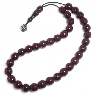 Prayer Beads-Tasbih-Masbaha-Komboloi ~ Vintage, Collectible Cherry Amber Bakelite Faturan