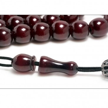 Prayer Beads-Tasbih-Masbaha-Komboloi ~ Vintage, Collectible Cherry Amber Bakelite Faturan