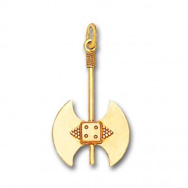 Minoan Double Axe - 14K Solid Gold Pendant C/Medium