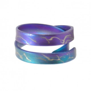 Giampouras 5061 ~ Anodized Colored Titanium Band Ring