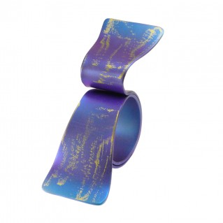 Giampouras 50641 ~ Anodized Colored Titanium Wrap Ring