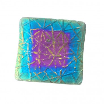 Giampouras 5051 - Anodized Colored Titanium Square Pendant