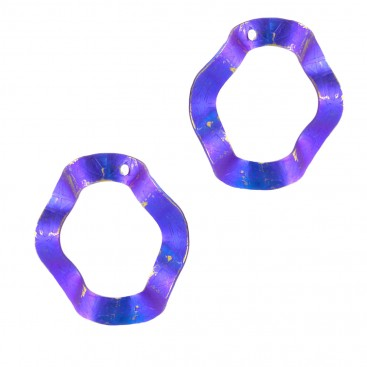 Giampouras 5028 - Anodized Colored Titanium Large Earrings
