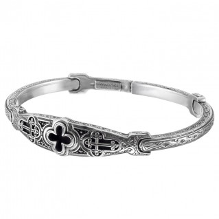 Gerochristo 6430N ~ Sterling Silver Medieval Cross Bangle Bracelet