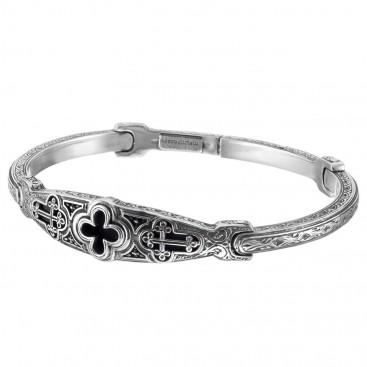 Gerochristo 6430N ~ Sterling Silver Medieval Cross Bangle Bracelet