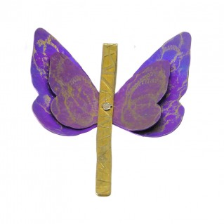 Giampouras 50362 ~ Anodized Colored Titanium Butterfly Pendant