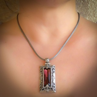 K238 ~ Sterling Silver and Swarovski - Medieval Byzantine Necklace