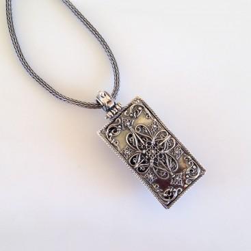 K238 ~ Sterling Silver and Swarovski - Medieval Byzantine Necklace